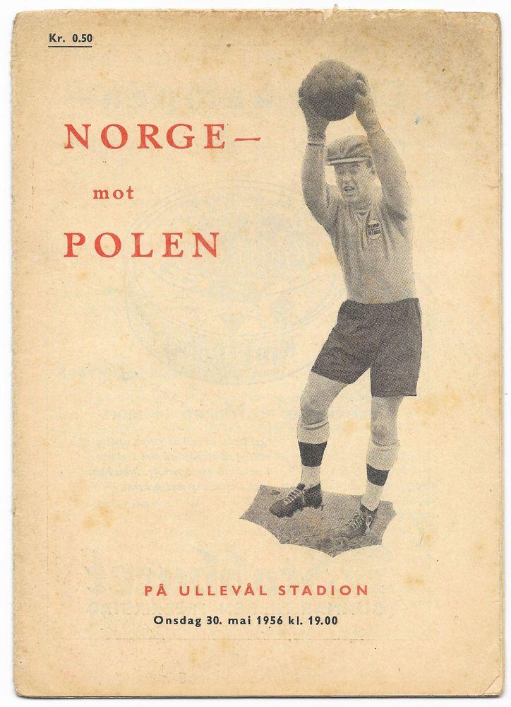 Norway v Poland, 1955/56 - Friendly International Football Programme. in Sports Memorabilia, Football Programmes, International Fixtures   eBay