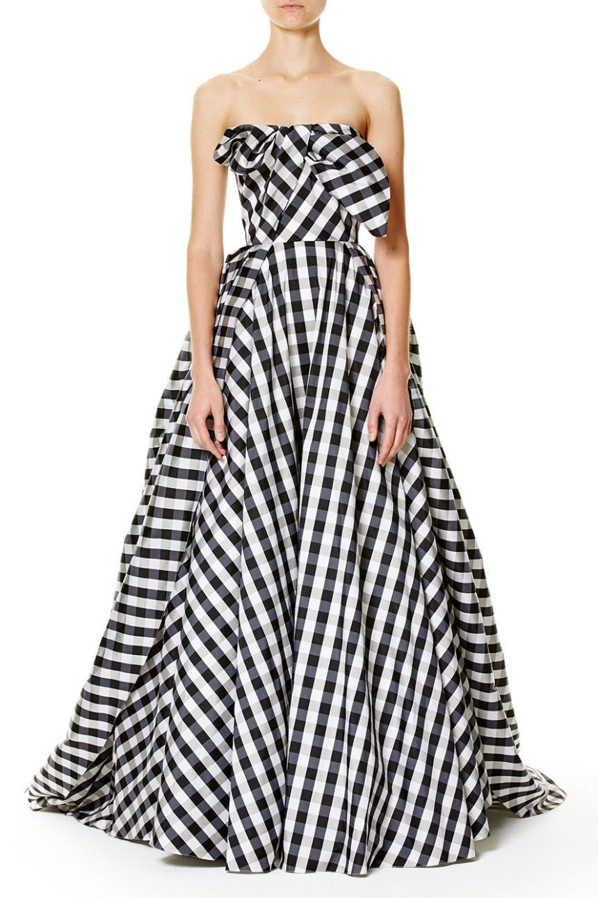 62a961e395 Strapless Gingham Gown by Carolina Herrera   Picnic