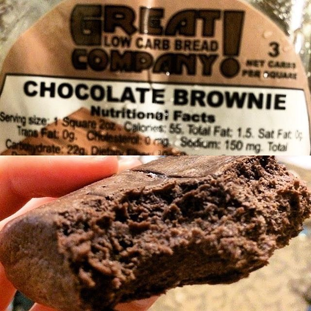 Have a sweet tooth? Our #lowcarb Chocolate Brownie has been known to curb sugar cravings with its fudgy powers. @hannahinstafit knows from experience!