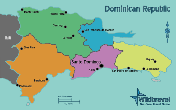 Dominican Republic Regions Mappng Countries Central America