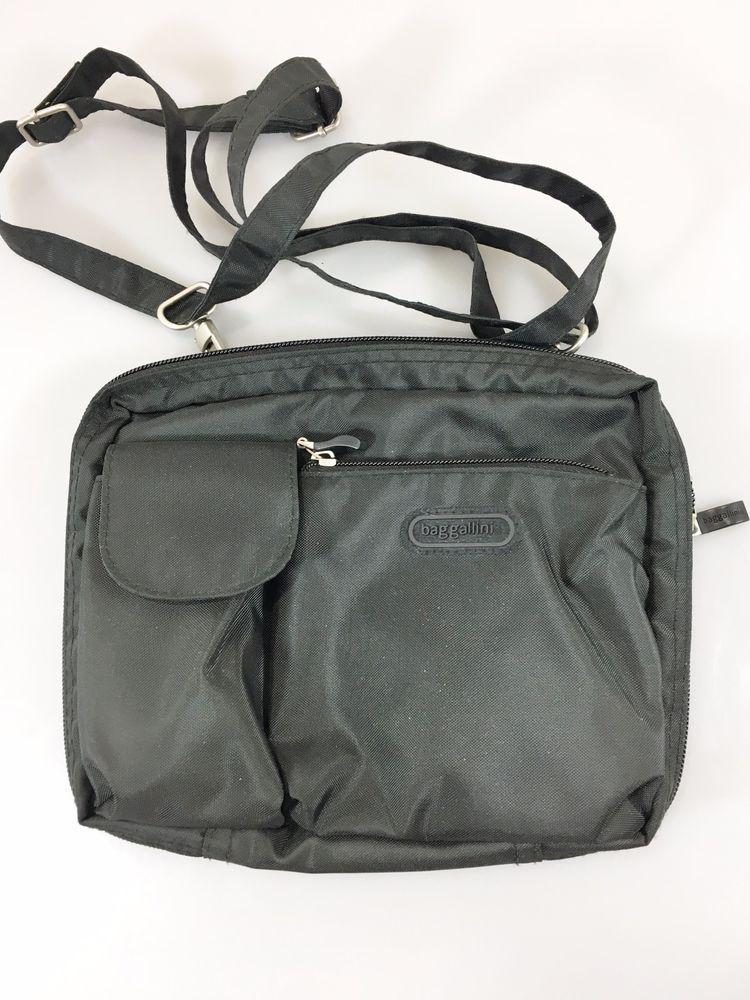 d20dfd6106 Baggallini Black Cross-Body Shoulder Bag Handbag Purse Lightweight  Organizer  baggallini  MessengerCrossBody