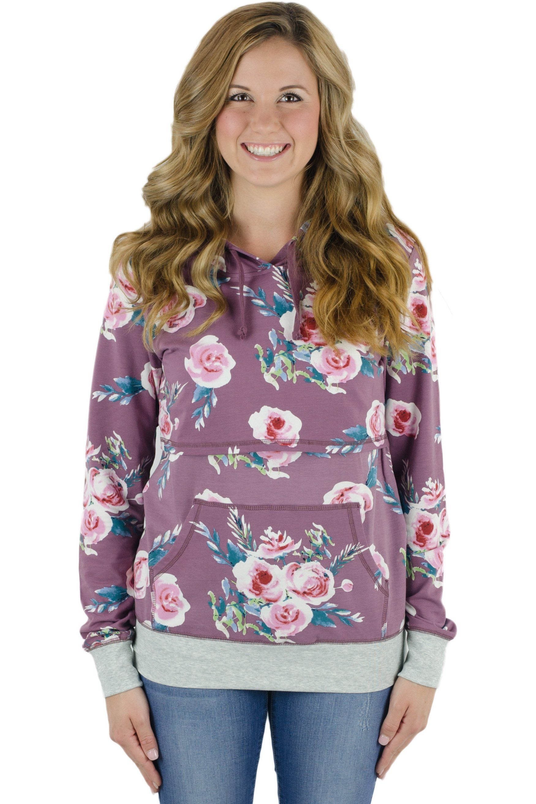 2bf6acf85107c Outlet - Latched Mama Lightweight Nursing Hoodie with Pocket ...