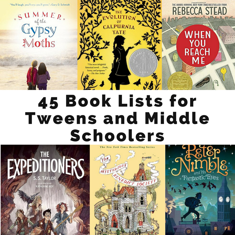 45 Book Lists For Tweens And Middle Schoolers My Blog The Heart