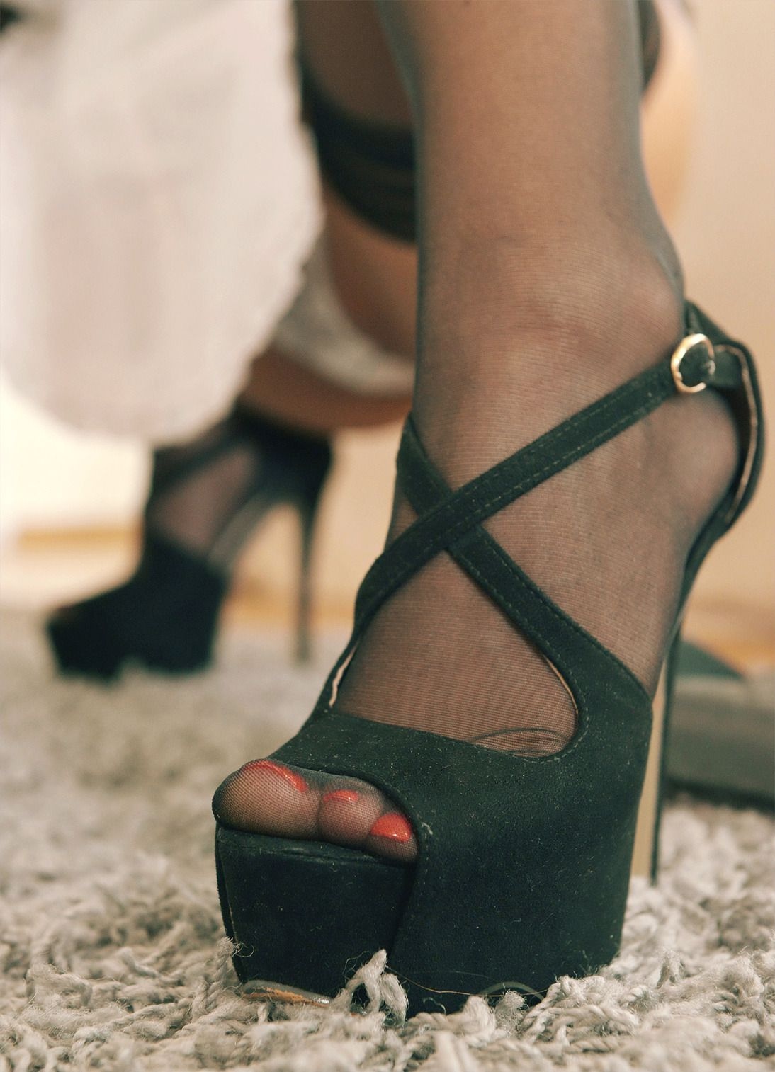 "Stockings And High Heels Discreetdreams""black ""Arched Feet mv8nw0ON"
