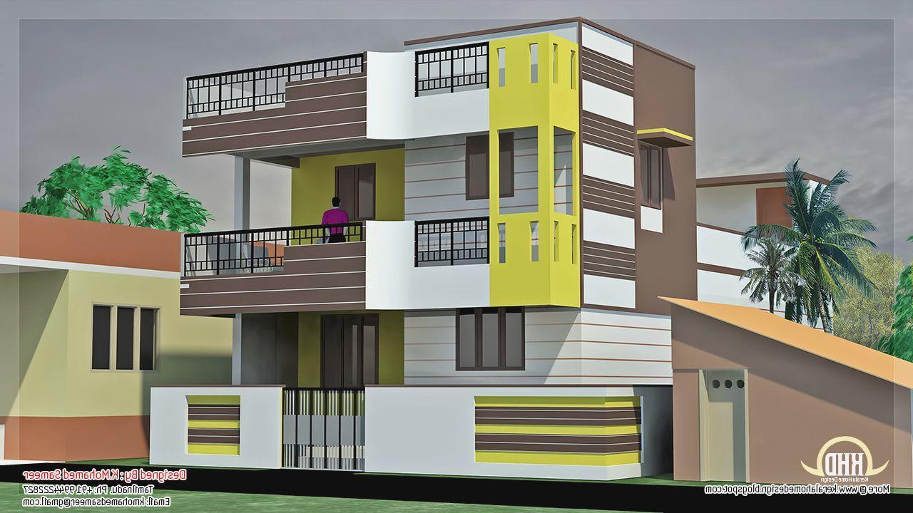 Indian Simple House Design Modern Second Floor Multi
