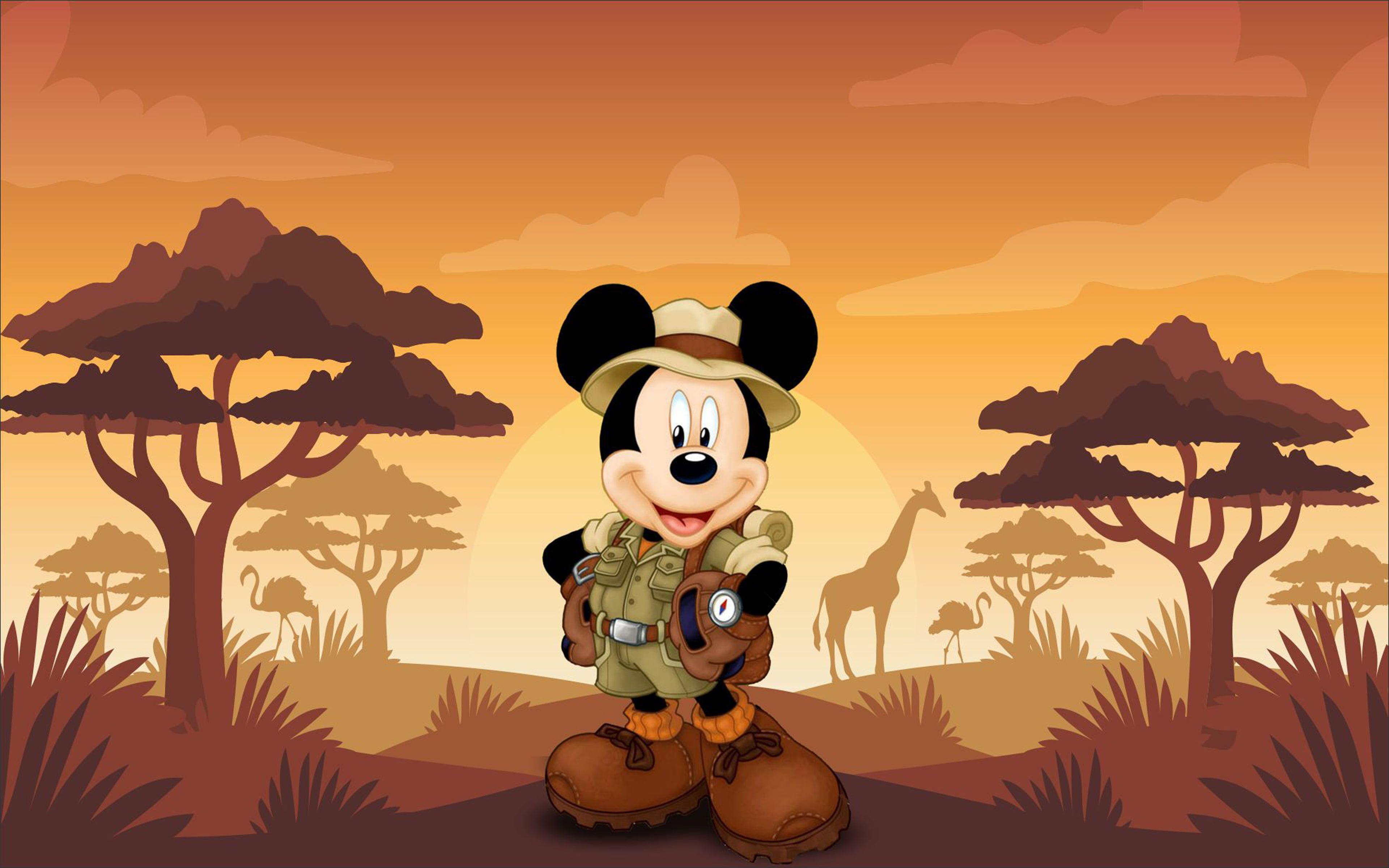 Mickey Mouse Cartoon Safari Sunset Hd Wallpaper 3840 2400 4k Wallpaper Hdwallpaper Desktop Mickey Mouse Cartoon Mickey Mouse Sunset Hd Wallpapers