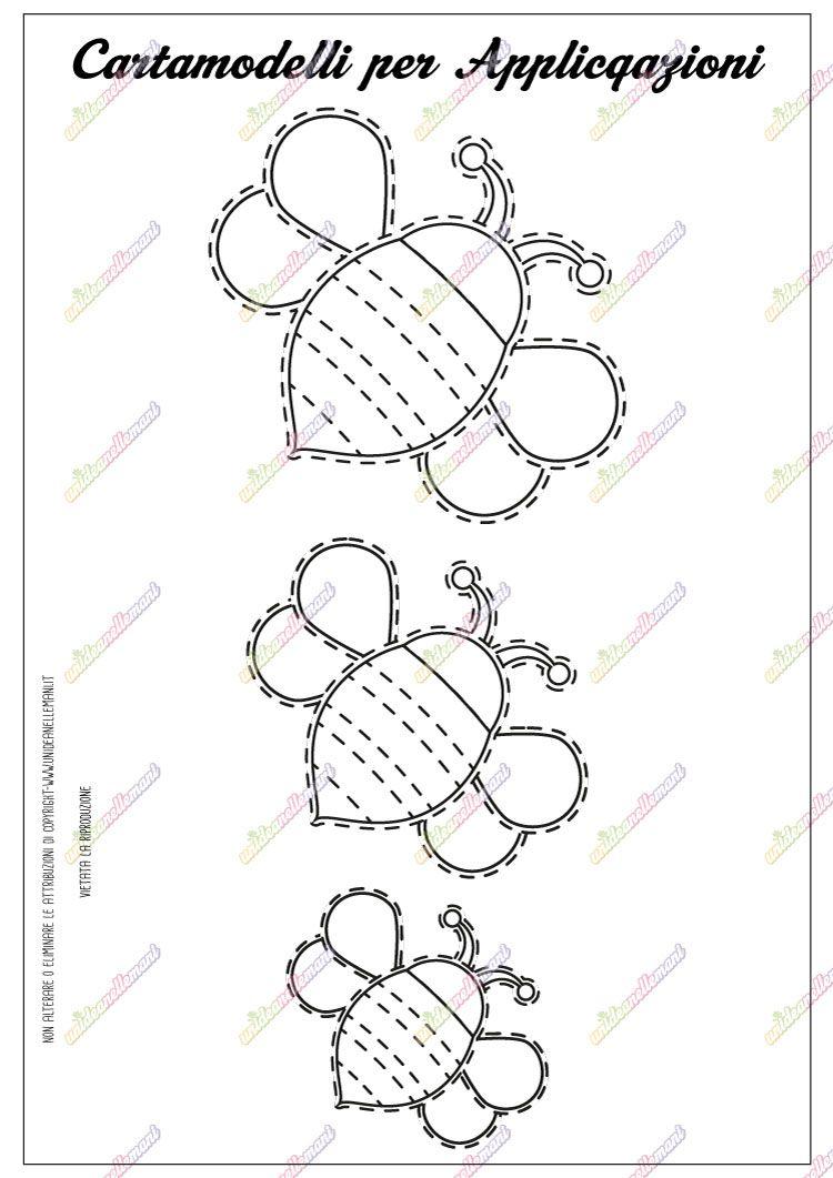 Cartamodello ape da stampare stampabili printable - Modelli di ghirlanda stampabili ...