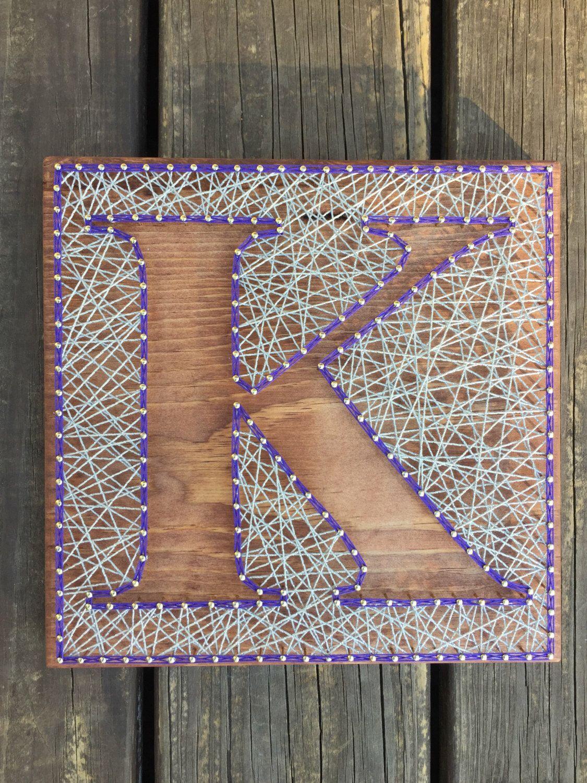 Custom Letter Art, Inverse String Art, Inverse Letter Art, Monogram Art,  Letter