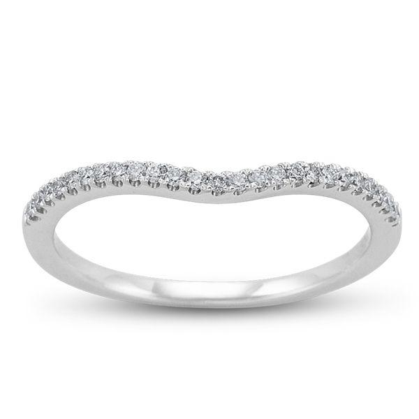 Simon G. 18K White Gold Diamond Wedding Ring