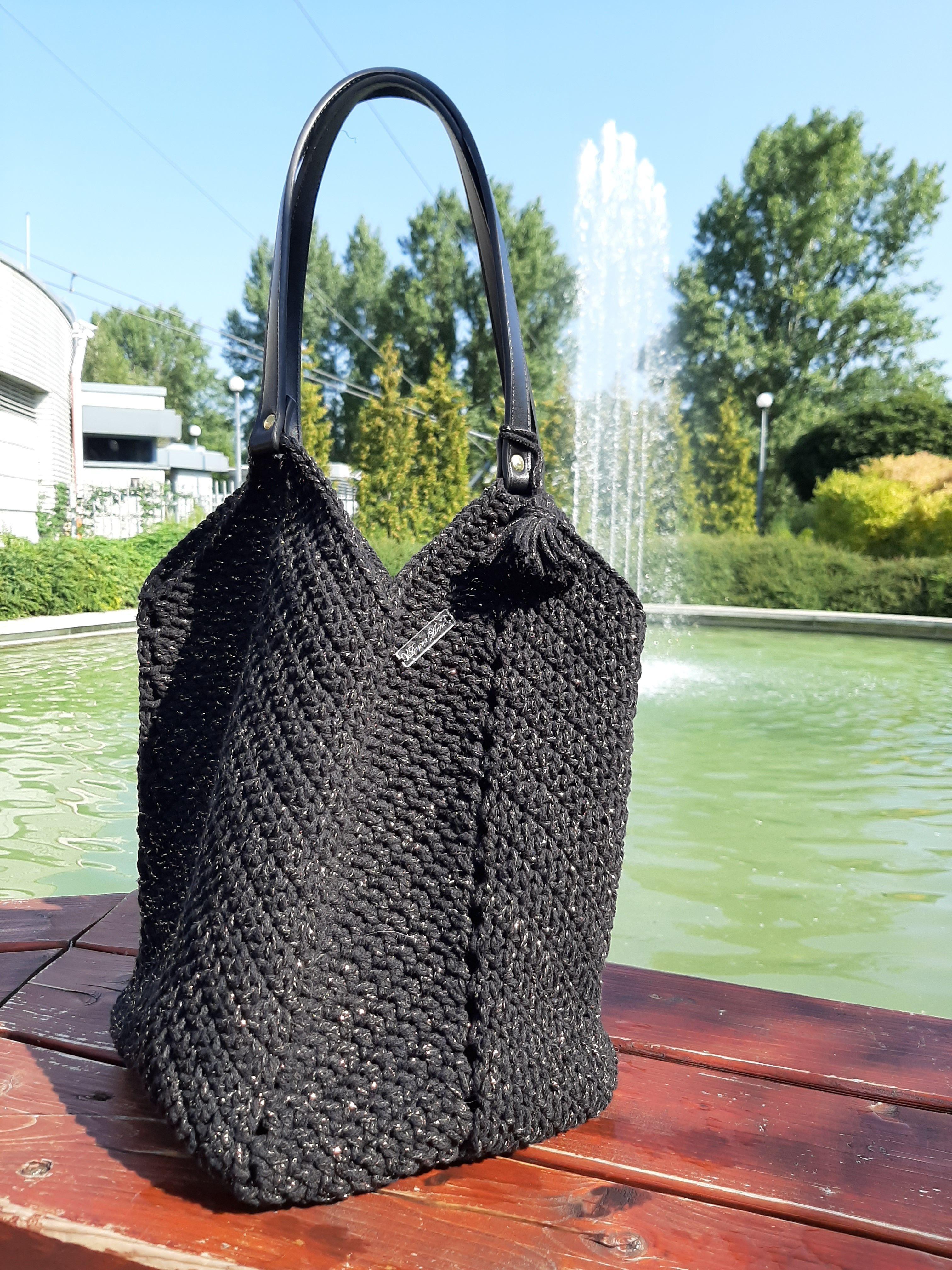 Szydelkowa Bawelniana Torba Crochet Bag Crochet Handbag Tassel
