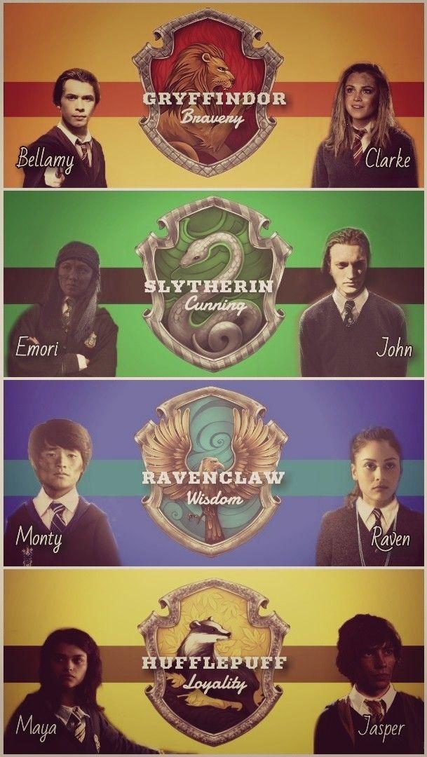 The 100 in Harry Potter's Universum // Bellamy Blake - Clarke Griffin - Emori - John Murphy - Monty Green - Raven Reyes - Maya Vie - Jasper Jordan