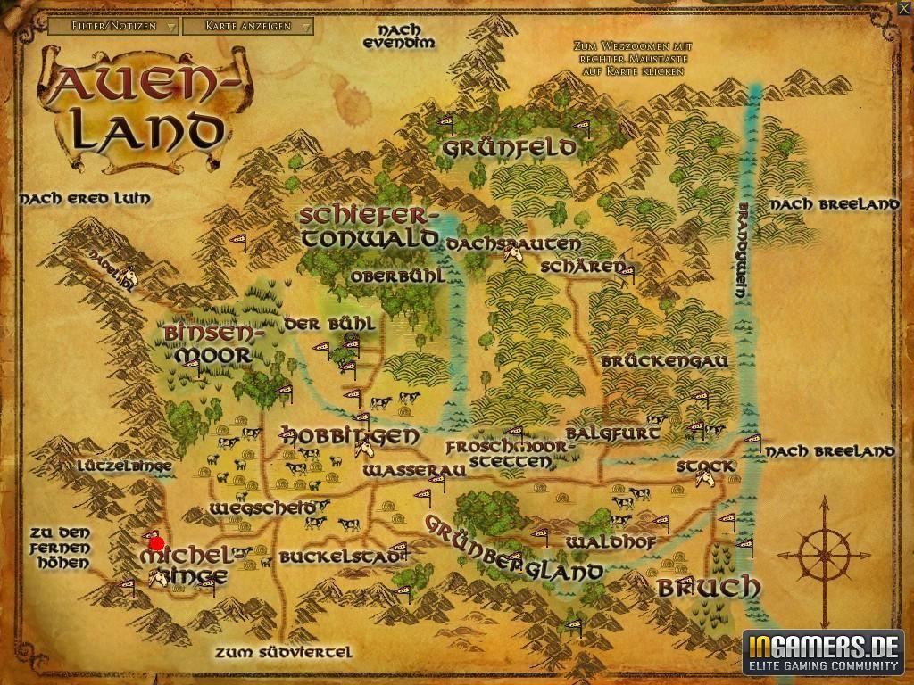 Auenland Karte Von Mittelerde Herr Der Ringe Herr Der Ringe Karte