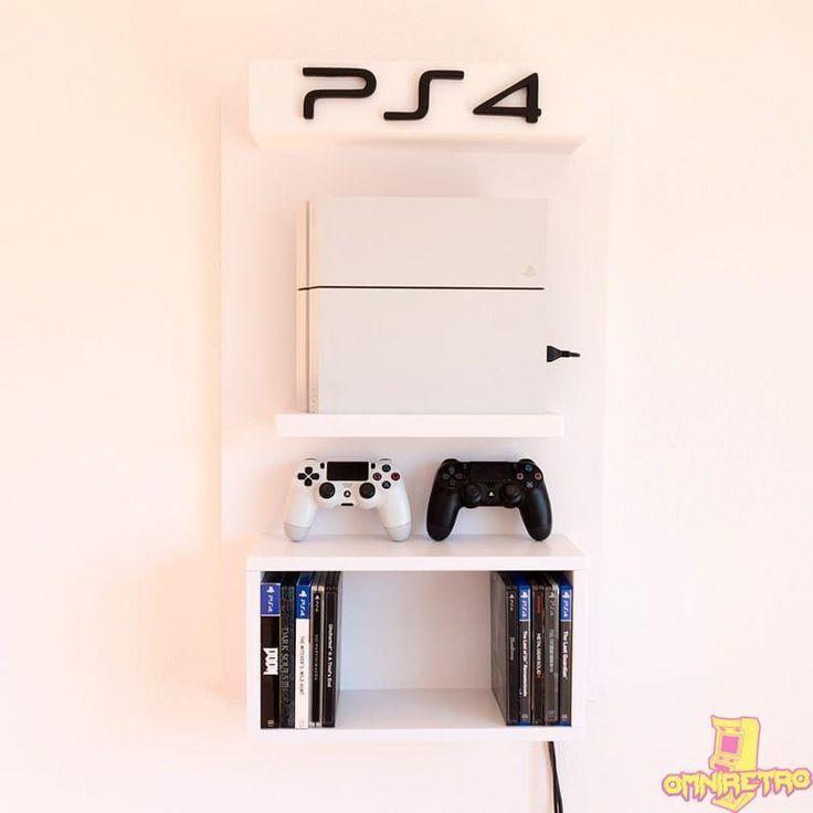 Ps4 V2 Wall Mount Playstation Room Gamer Room Diy Game Room Design