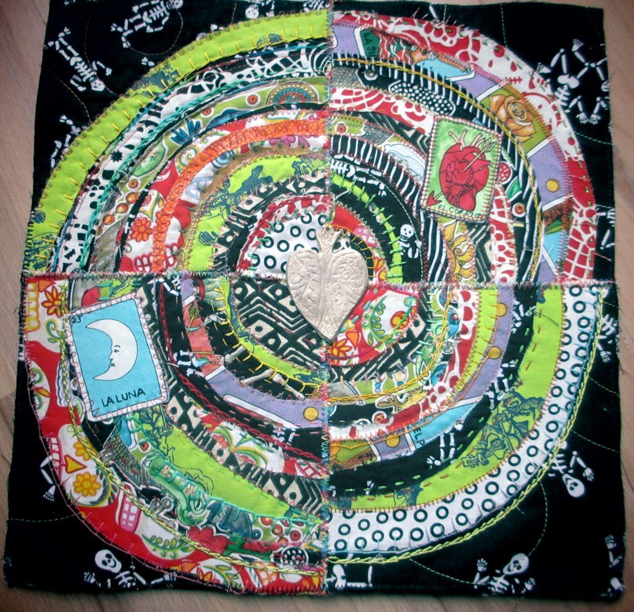 recycled circles dia de los muertos by Jane LaFazio
