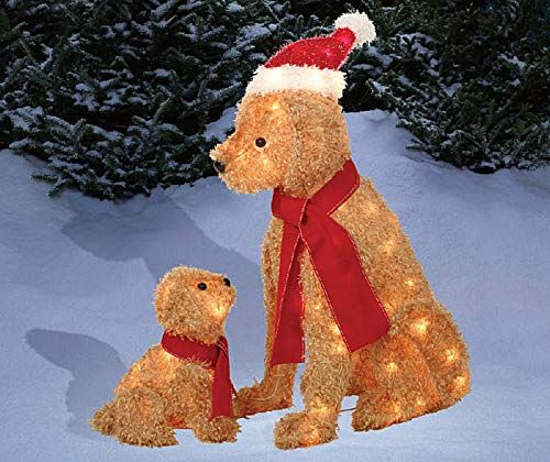 515f5a24e5a11 Set-of-2-Fuzzy-Lighted-Dogs-Mama-Puppy-Display-Outdoor-Christmas-Yard -Decoration-Holiday-Winter-Lawn-Sculptures-0-0