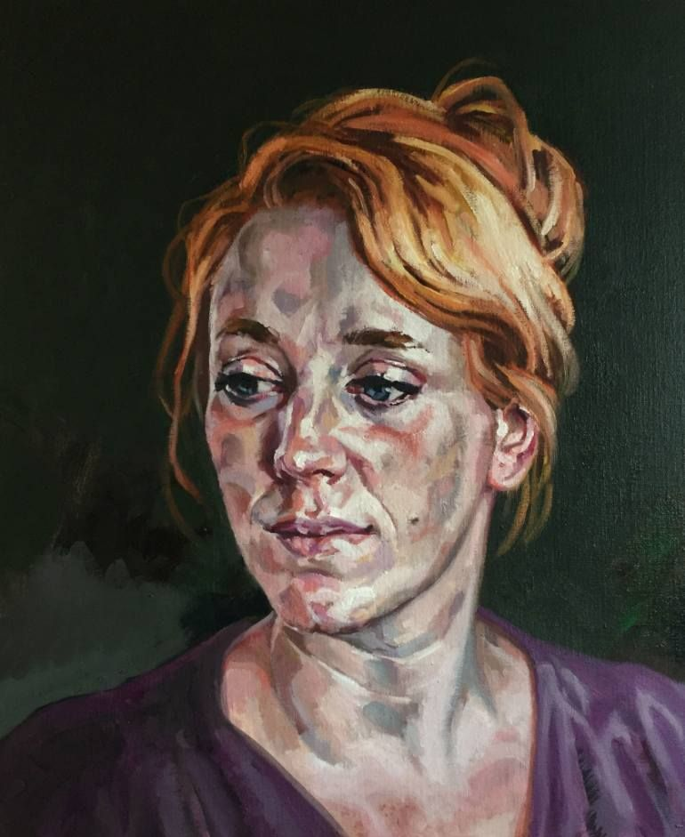 "Saatchi Art Artist Rogier Willems; Painting, ""Femke"" #art"