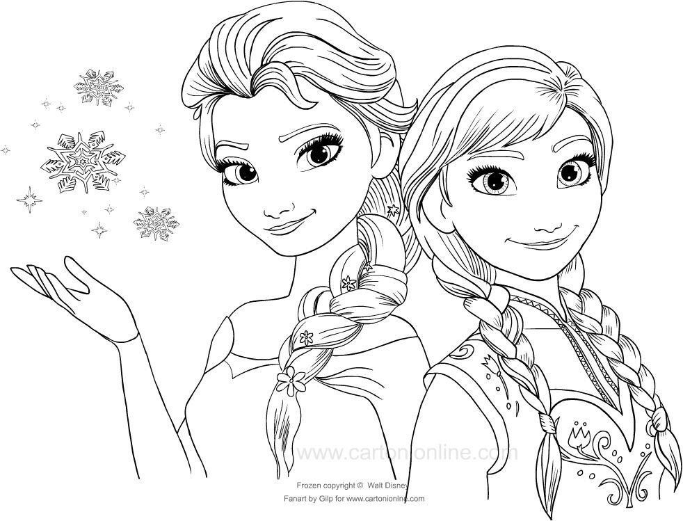 Disegni Da Colorare Bambini Frozen Coloring Pages Sketches Art