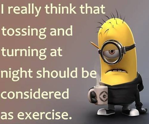 Minion Bed Tossing Turning Cant Sleep Exercise  Ef Bd A E