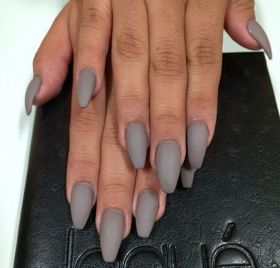 29 Ideas Gray Nails Matte Coffin Short 81 Grey Matte Nails Grey Acrylic Nails Gray Nails