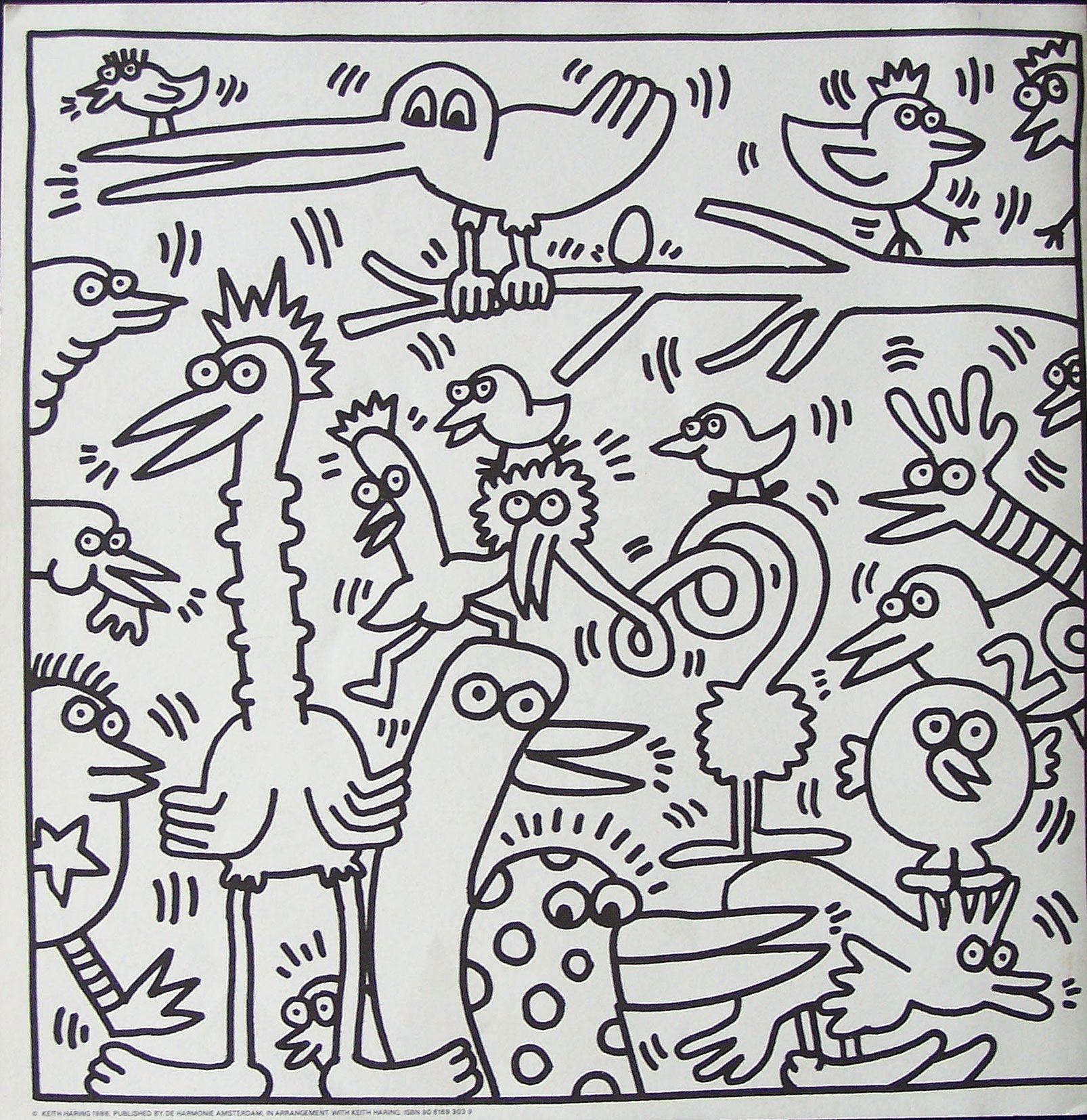 Keith Haring Maakte De Kleurplaat In 1982 Deze Litho Is Uitgebracht Door Harmonie Deze Lithografie Is Betaalbar Kunst Voor Kinderen Keith Haring Kunst Ideeen