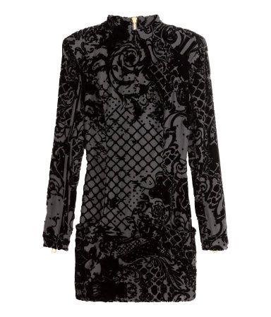 fef8856ad9a94 Product Detail | H&M IL-BALMAIN X HM · Balmain DressDress BlackBlack Velvet  DressShort ...