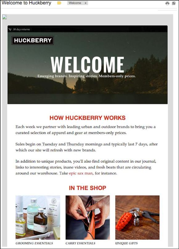 welcoming email example | Template