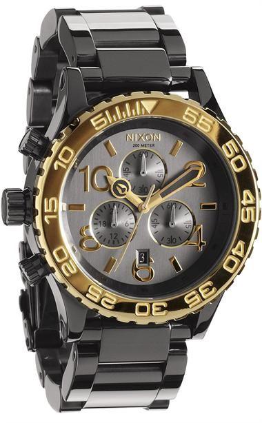 Nixon 42-20 Chrono Gun n Gold Watch - On Sale at Watchismo.com