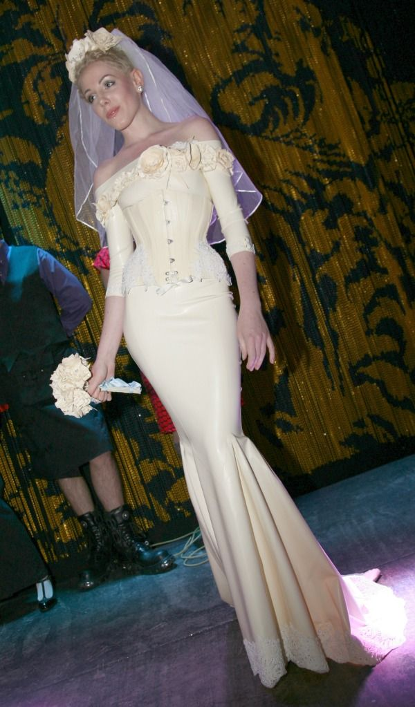 latex fashion wedding dress