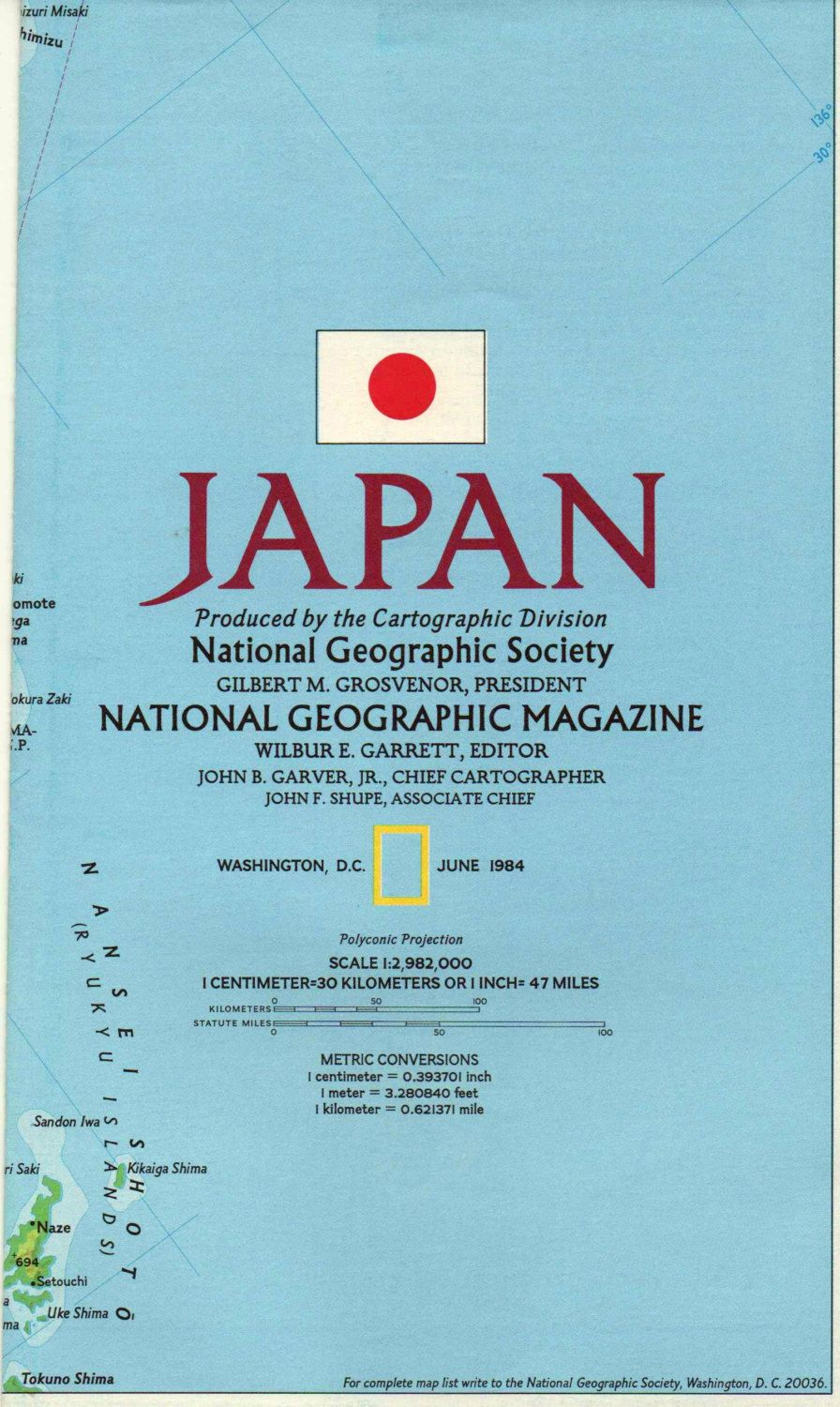 Japan National Geographic Map and History Timeline Poster