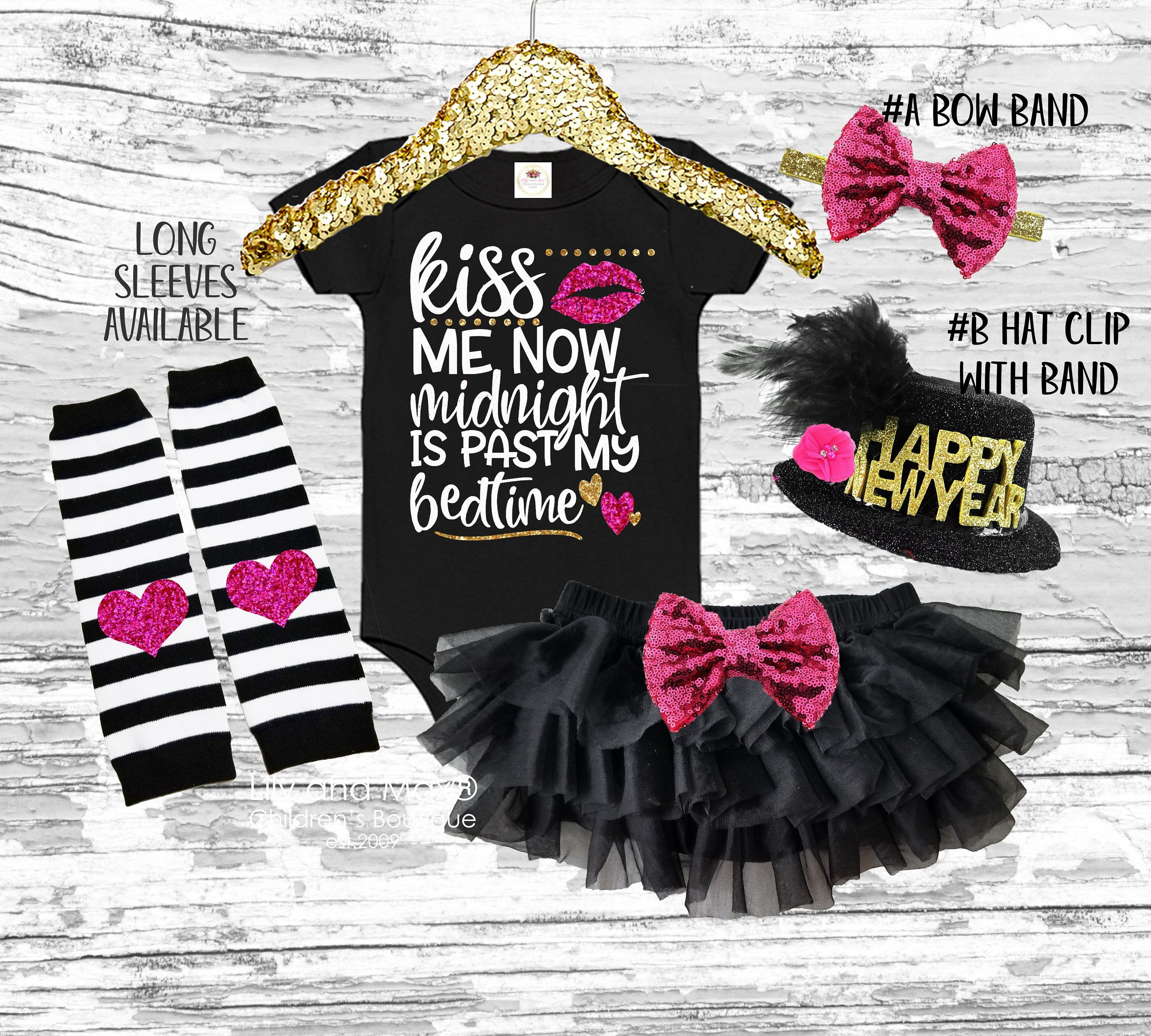 2021 New Year Girls Outfitnew Year Kiss Me At Night Outfit Etsy In 2020 Tutu Bloomers Night Outfits Girl Outfits