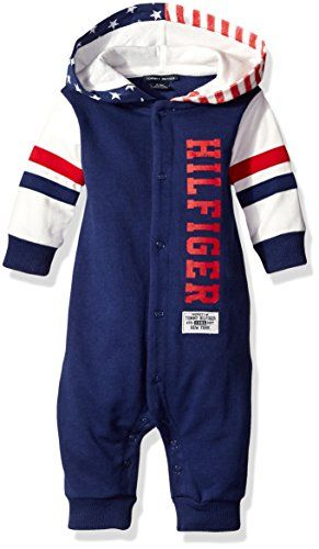 257652a3 Tommy Hilfiger Baby Boys Flag Hooded Coverall Navy 24 Months ** See this  great product.Note:It is affiliate link to Amazon.