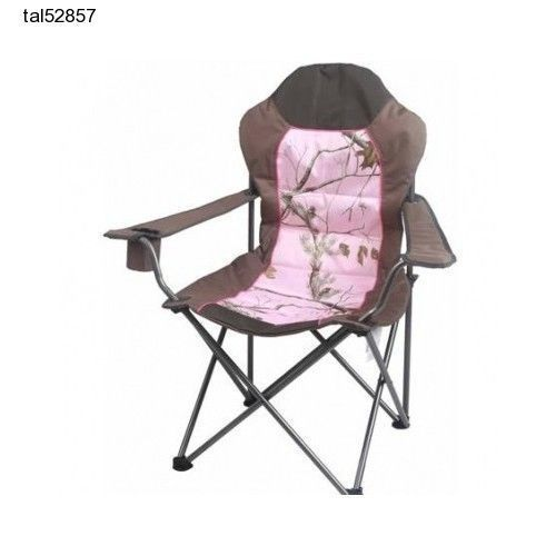 Sport Folding Chairs Best Office Chair For 10 Hours Portable Realtree Pink Camo Women Girl Camping Game Hunting