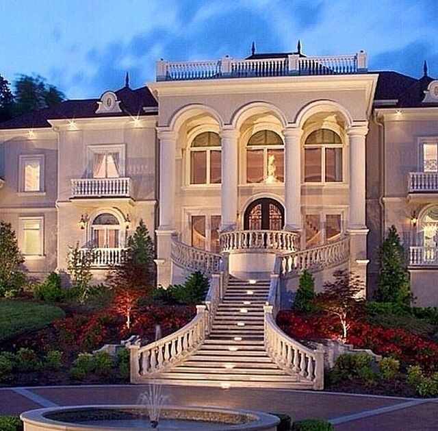 Monday Dream Homes Front View Mansions House Architecture Design Architecture House