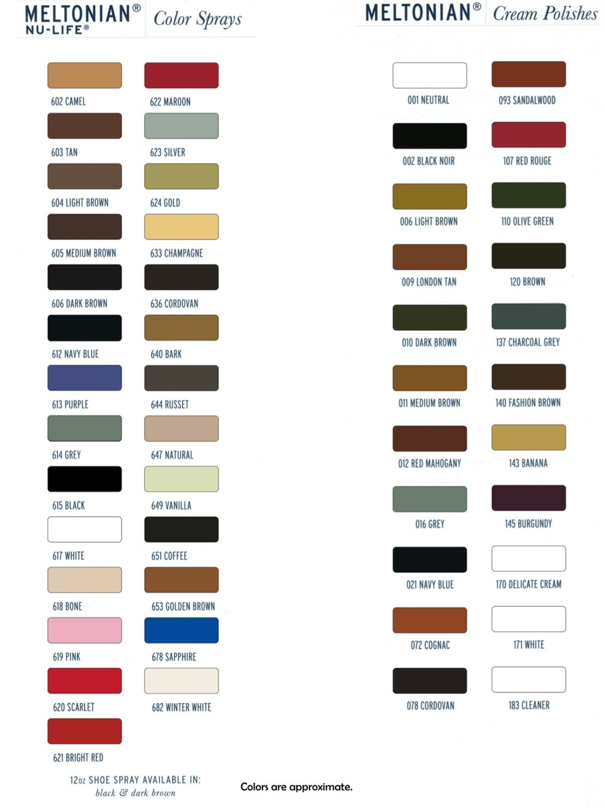 Meltonian color chart image collections chart design ideas meltonian color chart shoemakingsupplies pinterest colour chart meltonian color chart geenschuldenfo image collections geenschuldenfo Gallery