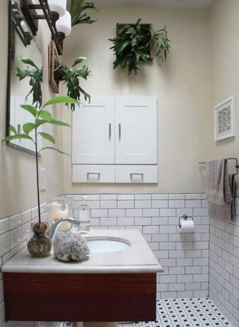 30 Green Ideas For Modern Bathroom Decorating With Plants Bathroom Plants Decor Windowless Bathroom Tidy Bathroom