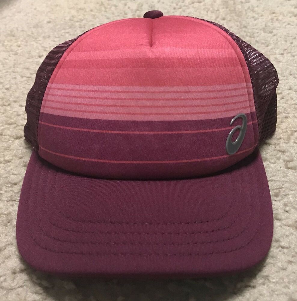 64956783f76ca Womens Asics Straight Edge Trucker Snapback Hat - Maroon   Icefolly - NWOT   fashion  clothing  shoes  accessories  unisexclothingshoesaccs ...