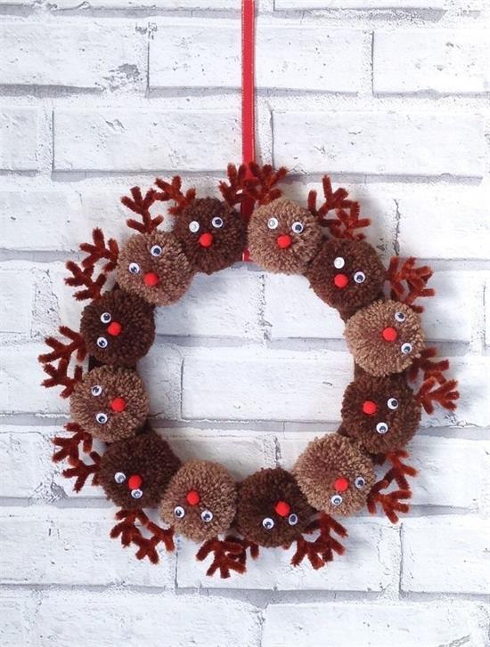 Über 30 einzigartige Weihnachtskranz-Ideen machen Ihre Tür für die Feiertage charmant #kreativjulepynt