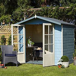 lumley shiplap wooden summerhouse with toughened glass windows home delivered with assembly base 5019804210282 b and q potential reading room - Garden Sheds B Q