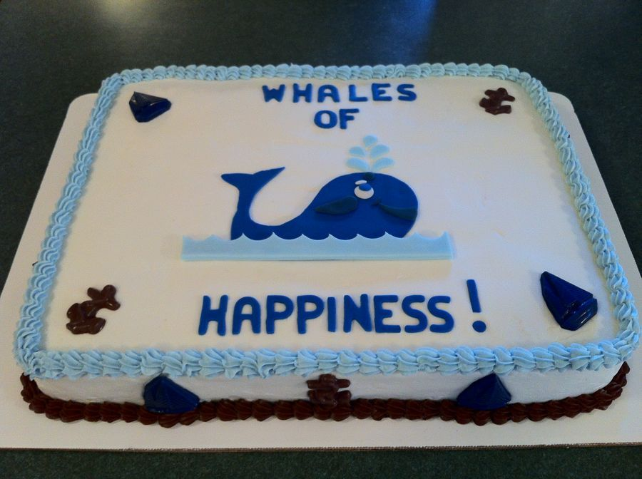 whale theme boy baby shower sheet cake  cake ideas, Baby shower