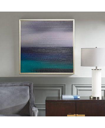 Madison Park Signature Blue Seascape Framed Gel-Coated Canvas Print ...