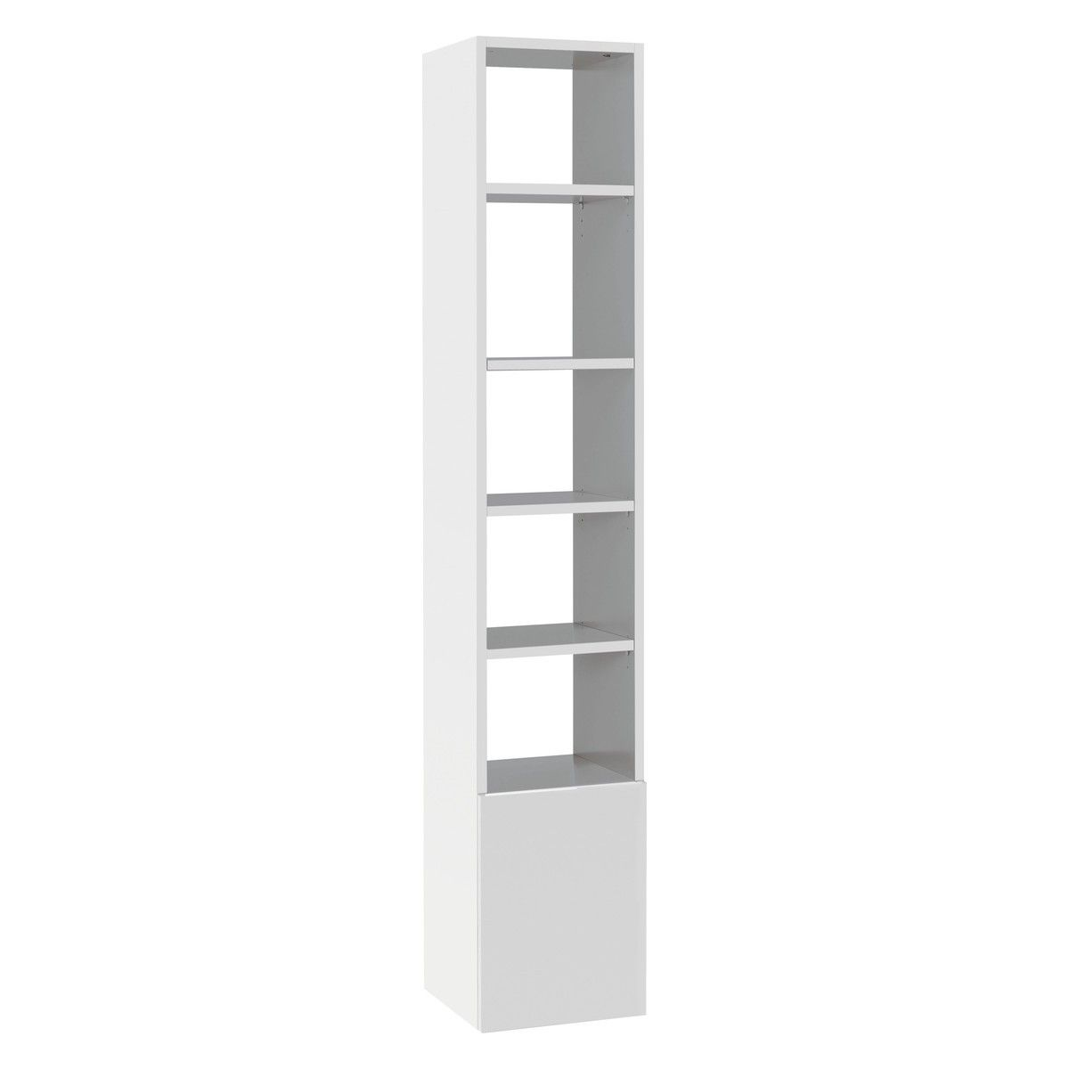 Kubrik White High Gloss Tall Shelving Unit Shelves Wooden Room