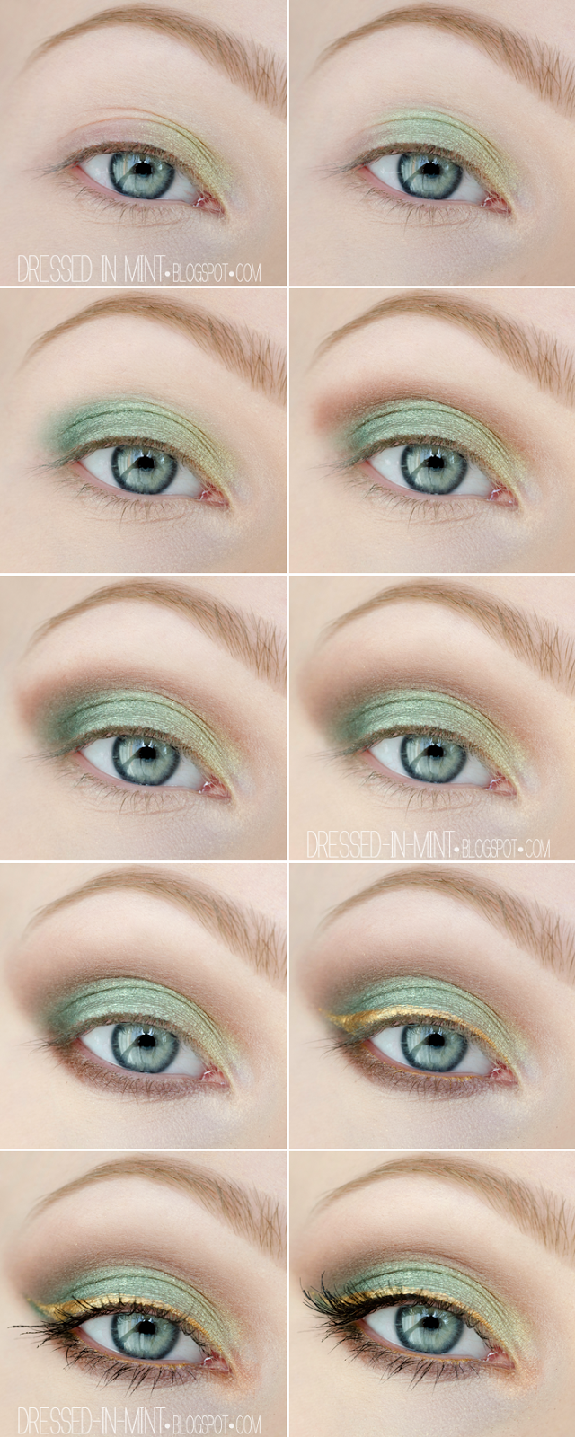 Photo of make up guide Dressed in Mint: make up. – Garden of Eden / step by step make up …