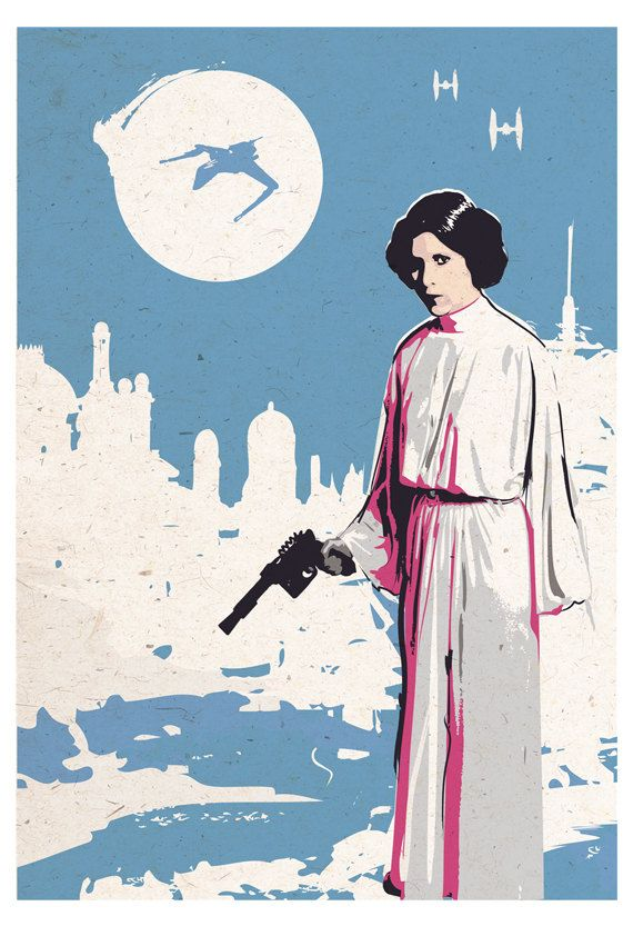 Vintage Pop Art Star Wars Princess Leia Different by 2ToastDesign