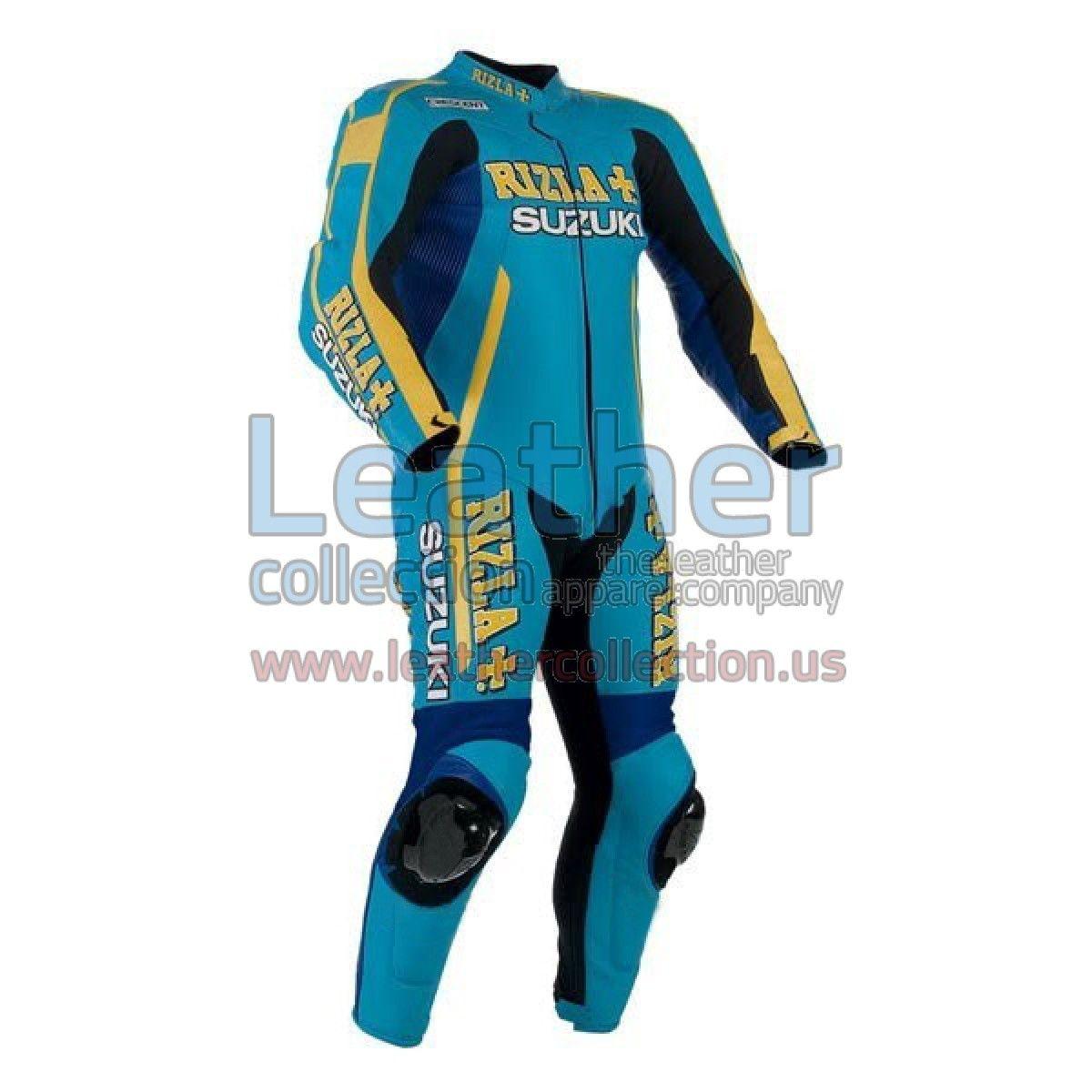 Rizla suzuki race leather suit available in 1 piece 2 piece https