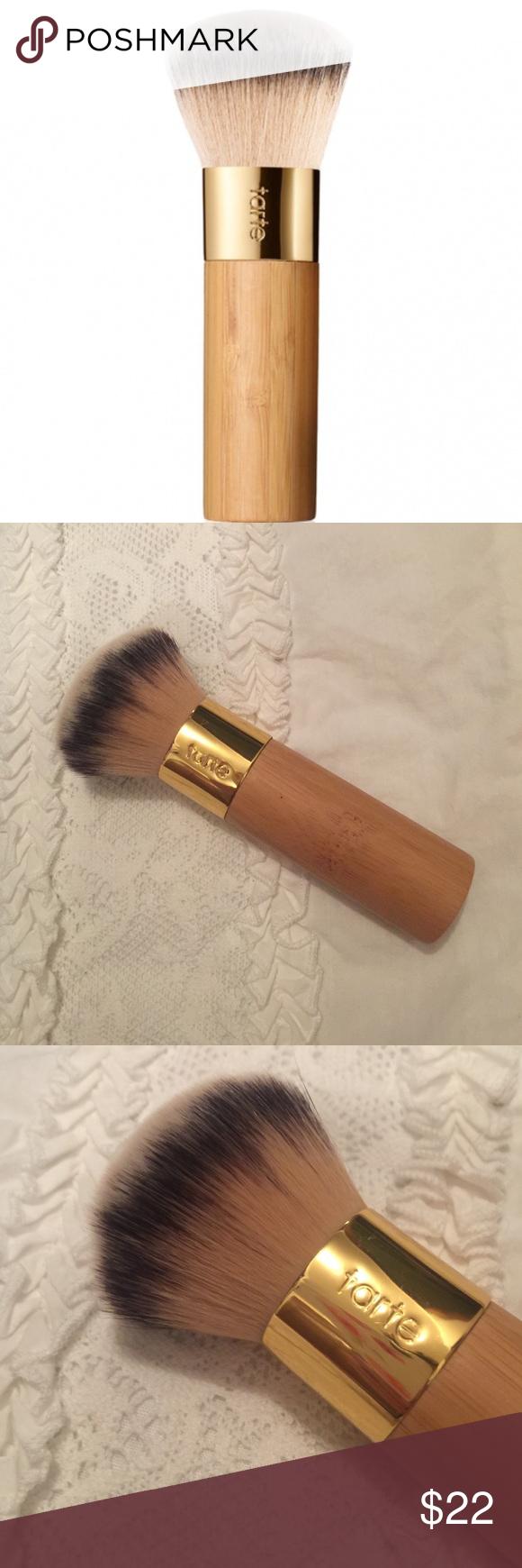 Tarte buffer bamboo brush Tarte makeup brushes, Bamboo brush