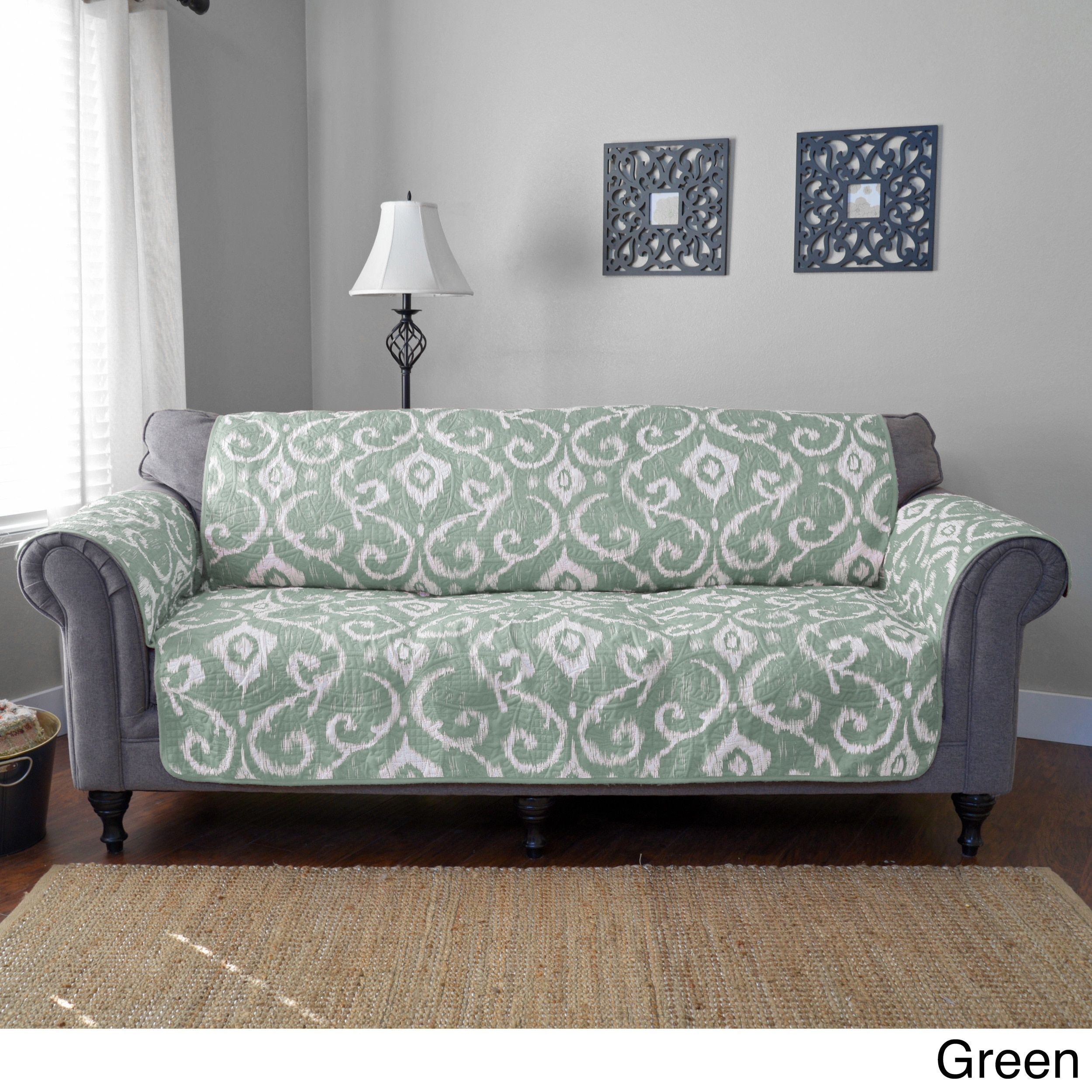 Journee Home Mia Reversible Printed Sofa Protector by Journee