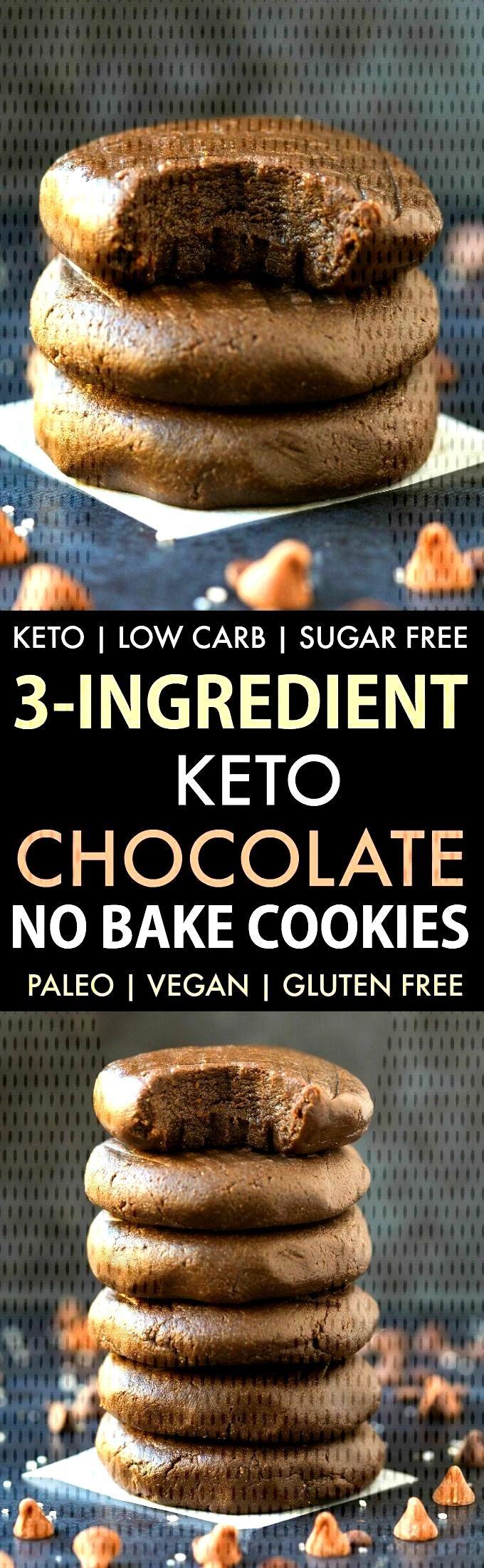 3-Ingredient Low Carb Keto Chocolate No Bake Cookies (Paleo, Vegan, Sugar Free) -... 3-Ingredient L