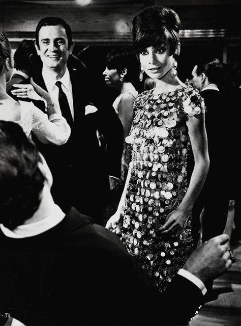 Audrey Hepburn in Paco Rabanne dress