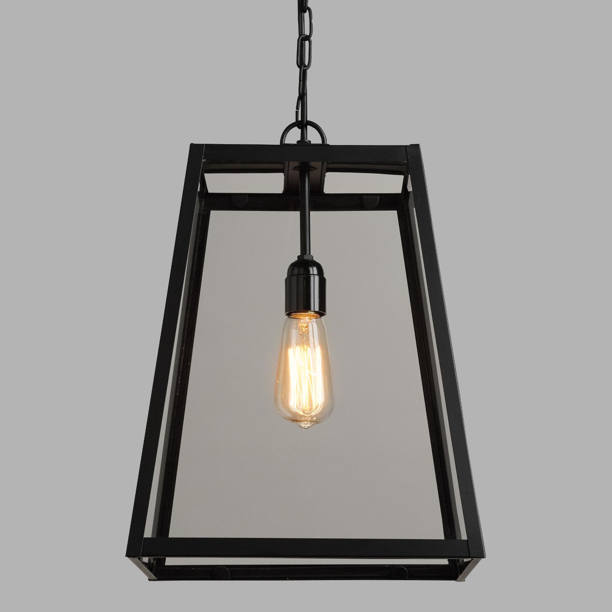 Four Sided Glass Hanging Pendant Lamp Lantern Pendant Lighting