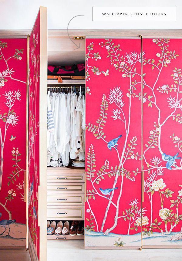 In The Details Creative Closet Doors Bold Wallpaper Closet